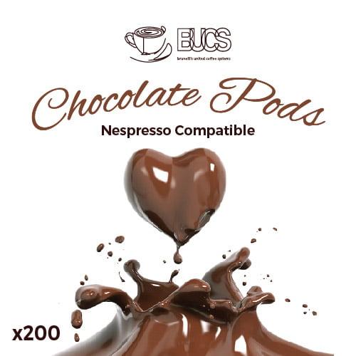 BUCS Biodegradable Chocolate Pods x200