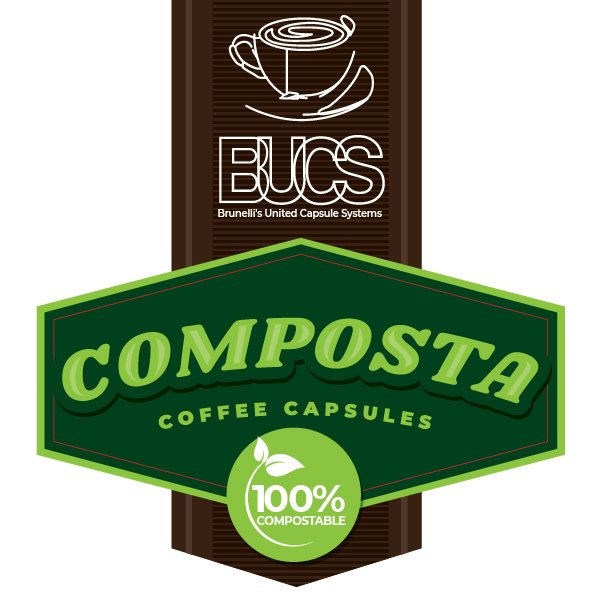 BUCS Composta Coffee Capsules - BUCS 100% Compostable Coffee Pods
