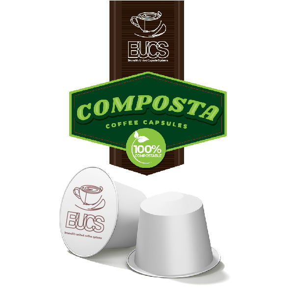 BUCS Composta Pods - 100% Compostable Coffee Capsules - Composta Capsules Product Image