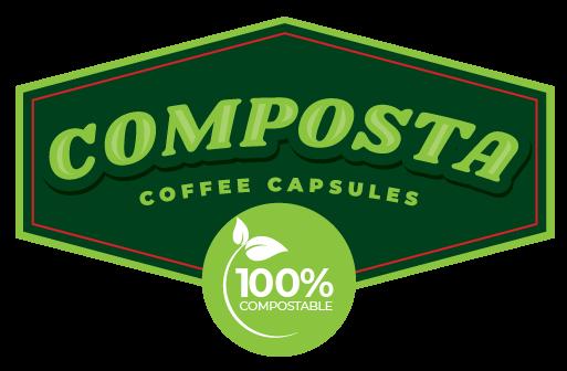 Composta Capsules - 100% Compostable Coffee Pods - Logo